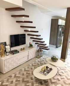 [New] The Best Home Decor (with Pictures) These are the 10 best home decor today. According to home decor experts, the 10 all-time best home decor. Staircase Storage, House Staircase, Loft Stairs, Facade House, Railing Design, Staircase Design, Model House Plan, Stairs In Living Room, Building Stairs