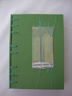 Green Book, Belgian Binding. by michelle moode