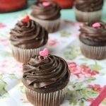 Really Yummy Chocolate Cupcakes with easy Fudge Frosting from Cookies and Cups