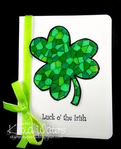 DRS Designs Rubber Stamps: Stained Glass Shamrock