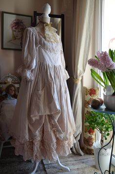 I combine different dresses from LES OURS with the hand made skirt...