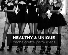 Love these ideas! Healthy bachelorette party ideas for the active bride