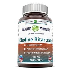 Amazing Nutrition Amazing Formulas Choline Bitartrate 650mg 180 Tablets >>> Find out more about the great product at the image link.  This link participates in Amazon Service LLC Associates Program, a program designed to let participant earn advertising fees by advertising and linking to Amazon.com.