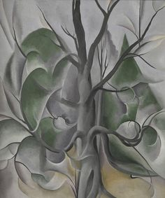 "Emily Carr was influenced by Georgia O'Keeffe's expressive paintings that were inspired by natural forms such as landscapes, flowers, and bones. Georgia O'Keeffe, ""Grey Tree,"" Lake George, 1925, Metropolitan Museum of Art."