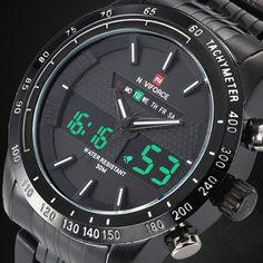 Hot Men Watches NAVIFORCE Luxury Brand Steel Quartz Clock Digital LED Watch Army Military Sport Watch Male relogio masculino