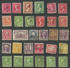 30US 19th Century stamps # 220 - 2¢ Washington, # 231 - 2¢ Landing of Columbus