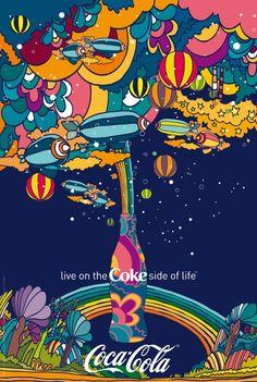 Coke Poster.. Peter Max??