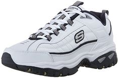Skechers Sport Mens Energy Afterburn LaceUp SneakerWhiteNavy11 M US ** Be sure to check out this awesome product.