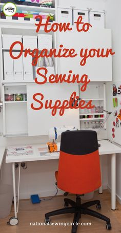 Leah Rybak gives us some tips on how we can be more organized with our embroidery and sewing supplies. By simply using hair ties, we can organize and color code our supplies. Watch this quick sewing tip and learn some simple tricks for organizing your own sewing supplies. Sewing Room Storage, Sewing Room Organization, Craft Room Storage, My Sewing Room, Sewing Rooms, Organizing Crafts, Organising, Small Sewing Projects, Sewing Hacks