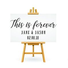 Personalised Vinyl Decal Wedding Signage This Is Forever Love Quote Wedding Sign DIY Thing 1, Wedding Welcome Signs, Vinyl Signs, Wedding Signage, Custom Vinyl, Printable Designs, Transfer Paper, Name Cards, Sign Quotes
