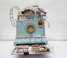 I stumbled across these mini albums in the shape of cameras and had to share! So unique and a perfect way to present a mini-album as a gift (say for example Mother's Day). The version above w…