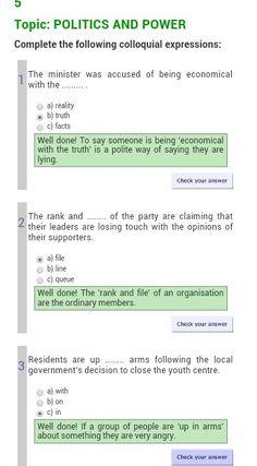 Politics expressions