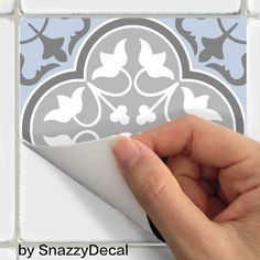 Wall Tile Decals Vinyl Sticker removable Tile or Wallpaper for