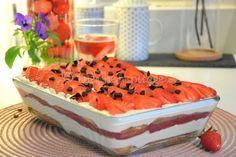 Cremiges Erdbeer-Tiramisu