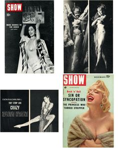 Magazines  Vintage  - 3  1950's Pocket Magazines  ~    Show -  He  - News Tempo and Quick