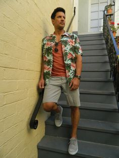 Dad Fashion. Joe prefers a more casual approach, with good quality basics like modern cut khakis, solid tees, and colorful sneakers. Joe shows us his modern take on the stereotypical San Diego dad style—Hawaiian shirt and shorts.
