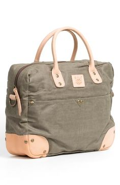 $250, Will Leather Goods Canvas Flight Bag Green One Size. Sold by Nordstrom. Click for more info: https://lookastic.com/men/shop_items/73951/redirect