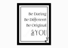 Inspirational print. Be YOU print. by GrapevineDesignShop on Etsy