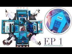 [Hướng dẫn Love Box] Làm love box NGÔI NHÀ xanh (Phần 1) - NGOC VANG [2/5] - YouTube