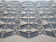 Geometric paper cut by sarah louise matthews