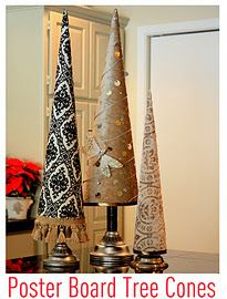 "Poster Board Cone Trees  from ""The Creativity Exchange""...BEFORE she started charging 11.95 for the pattern."