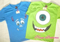 Camiseta Monstros Sa - Adulto