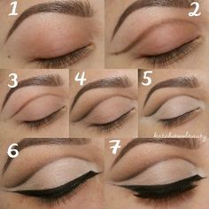 How to make cut crease eye makeup #makeup #tutorial #stepbystep #howtocutcrease