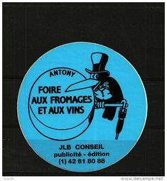 Autocollant    -    Lot De 2   FOIRE AUX FROMAGES ET AUX VINS    - ANTONY  - Corbeau - Stickers