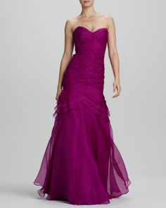Strapless Mermaid Gown by Theia at Neiman Marcus.