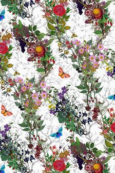 Bloomsbury Garden Wallpaper by Timorous Beasties Garden Wallpaper, Flowery Wallpaper, Of Wallpaper, Designer Wallpaper, Pattern Wallpaper, Textures Patterns, Print Patterns, Subtle Background, Timorous Beasties