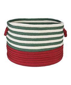 Loving this Red & Green Candy Swirl Storage Basket on #zulily! #zulilyfinds.  Colonial Mills