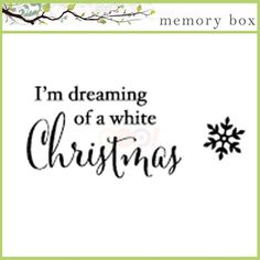 Memory Box Cling Stamp - White Christmas