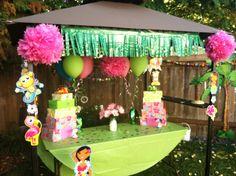 Luau party hut