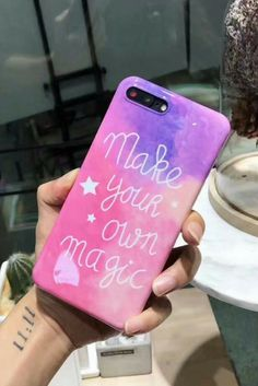 """Make your own magic ""quotes iphone 6, iphone 6 plus, iphone 7 & iphone 7 plus protective case inspiration, love for cute teen girls"