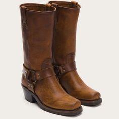 Frye Harness Boot Cognac