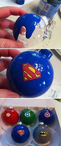 Superhero Christmas Balls.