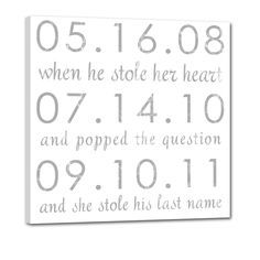 Never forget an important date again with this adorable custom art for your wall.