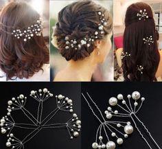 5Pcs Hair Clips For Women Hairstyles Wedding Bridal Hair Pins