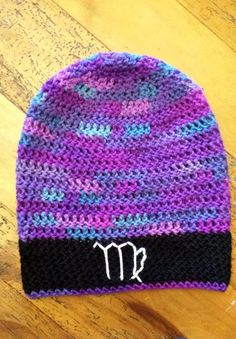 VIRGO Astrology Crochet Slouch Beanie. REQUEST YOUR CUSTOM SIGN!!