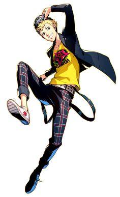 Ryuji Sakamoto Character Art from Persona 5 Royal - Character Design from Video Games Persona 5 Memes, Persona 4, Persona 5 Anime, Character Concept, Character Art, Character Design, Superhero Characters, Anime Characters, Anime Manga