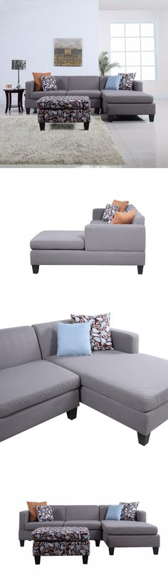 Sofas Loveseats and Chaises 3Pc Sectional Sofa Microfiber