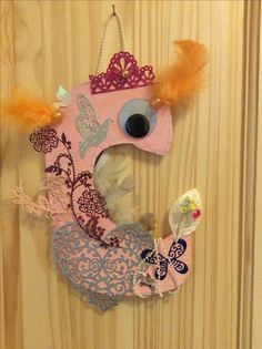 Letter for a little girls bedroom door