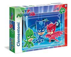Puzzle de 104 Piezas de PJ Masks Puzzle de 60 Piezas de PJ Masks, Heroes en Pijama, con unas dimensiones de 68 x 48 cm.