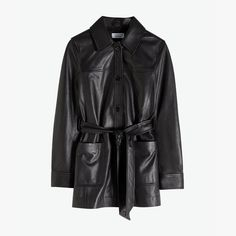 & Other Stories - black belted leather trench jacket - Dresscodes Trench Jacket, Leather Trench Coat, Leather Coats, Trent Coat, Blazers, Jeans Boyfriend, Leather Jacket Outfits, Models Off Duty, Fashion Story