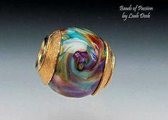 Handmade Glass Bead Big Hole Lampwork  Rich by BeadsofPassion
