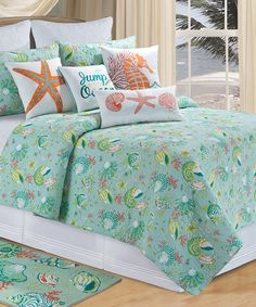 Look at this Aqua Laguna Breeze Quilt on #zulily today!