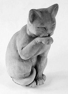 Contented Cat Statue