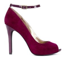 Cranberry Peep Toe Pumps.
