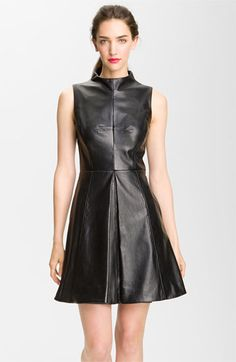 Dress style a line leather