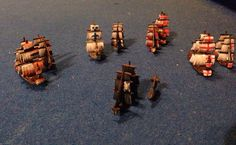 Boardgames; Merchants and Marauders Ships custom painted by Leigh Gregurke